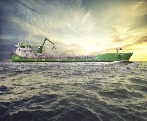 MILJØ: Skipet «Hagland Captain» får grønnere teknologi i spleiselag med NOAH.