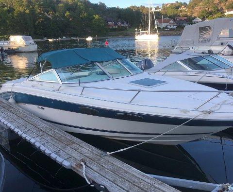 PÅ VANNET: Jørn Atle Berg fikk båten frastjålet på Tangen. Raskt politiarbeid gjorde at han kunne hente båten allerede dagen etter.