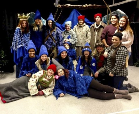 Jul i Blåfjell: Rundt 300 personer var og så forestillingen som de 18 elevene på Barne- og ungdomsarbeiderfag ved Notodden videregående skole viste denne uka.