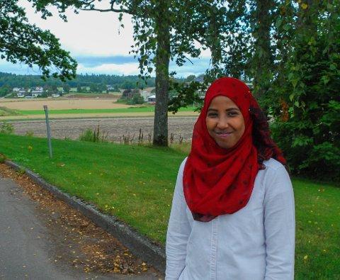 GÅ PÅ! Det er oppfordringen til andre flyktninger fra somaliske Quweyla Abdi Elmi, som kom til Nøtterøy for to år siden.