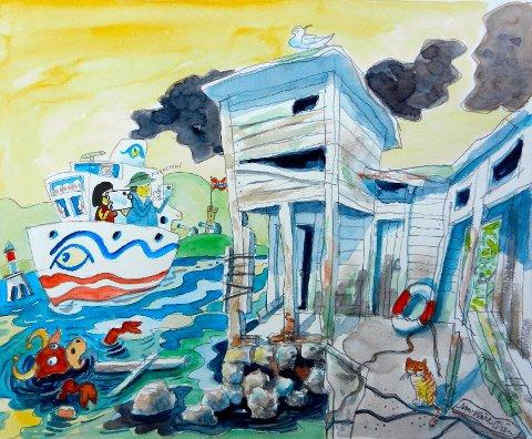 Drøbak: Å ta vare på Drøbak koster! Det koster slit , tid og penger,- fra private, fra frivillige, fra kommunen, fra Verneforeningen og andre lag og foreninger, og politikere som ser kvalitetene i det å bevare Gamle Drøbak, skriver Jan- Kåre Øien. Illustrajon:Jan-Kåre Øien