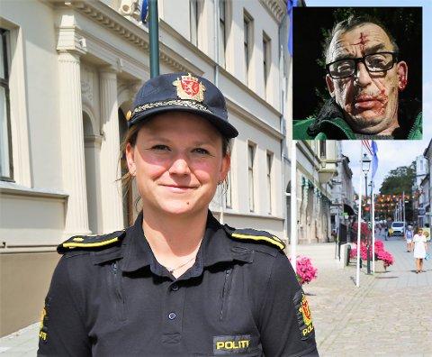 SIKTET: Politiet har siktet fem tenåringer. Politiet føler seg sikre på at de har tatt riktige personer, derav siktelsen. De fem er ikke varetektsfengslet. Det opplyser Janne Samuelsen, fungerende leder av forebyggende avdeling hos politiet i Halden. Innfelt sees offeret Svein Rosenlund. Fotomontasje.