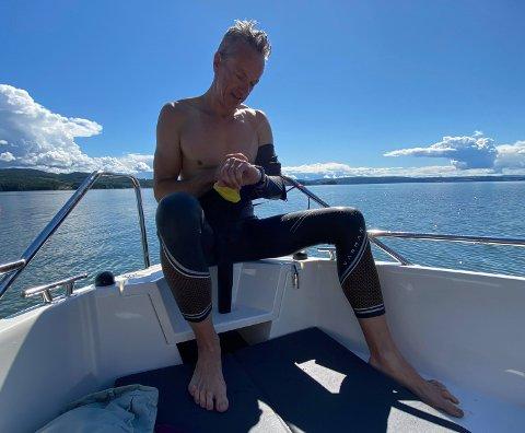 JERNMANN: Hans Aaseth svømte heller over Mjøsa enn å kjøre til Hamar.