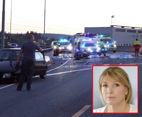 DØDSULYKKE: To menn ble påkjørt og drept av en ruskjører på riksvei 159 like ved varemessa i Lillestrøm for ti år siden. Hjemme satt Tina Lysgård med to sønner og ventet på Bjørn Oscar Lysgård som aldri kom hjem.