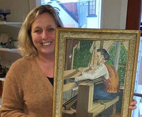 FANT DET IGJEN: Liv Jorunn Knutsen hadde aldri trodd hun skulle se dette maleriet igjen.