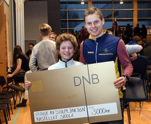 FINT MØTE: Fridtjoff Myhre Kvaleid hadde nok ikke noe i mot å få prisen tildelt av verdensmesteren Waale Kaas.