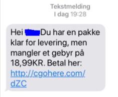 SVINDEL: Har du fått en slik SMS? Da bør du slette den, opplyser Posten.