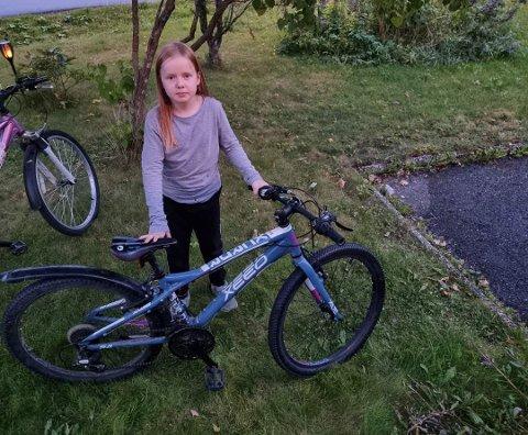TUKLET: Da Ingrid skulle hjem fra leksehjelp hadde noen tuklet med sykkelen hennes.