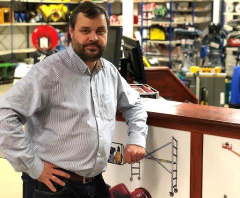 NY MANN: Harald A. Sollid er ansatt som driftssjef på kjedekontoret til Byggesystemer Norge AS på Vinterbro.