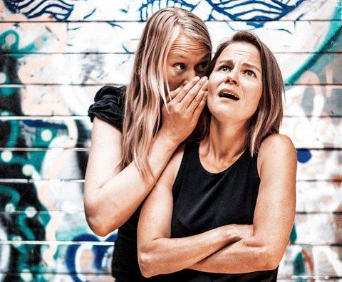 """Astrid Elise Sæterøy og Beathe Frostad med forestillingen """"Valgt det..."""""""