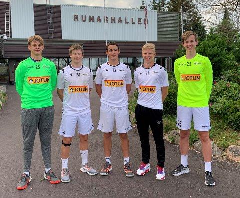 Fra venstre: Espen E. Tangeraas, Kristian Strøm, Mathias Riis Singdahlsen, Preben Gram og Oliver Klavenes.