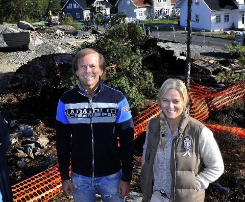 BYGGER MER:  Utbygger Ole Petter Løvstad  har snart bygd ut Svartedalsberget. Han forsetter å bygge boliger blant annet på Rolvsøy  hvor han også har engasjert eiendomsmegler Laila Bergh Andersen.
