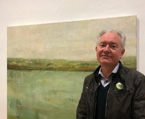 """GJENÅPNER: Museumsdirektør Jan Åke Pettersson gleder seg nå til å kunne vise fram Edith Spira-utstillingen """"Horisonter"""" på """"ordentlig""""."""