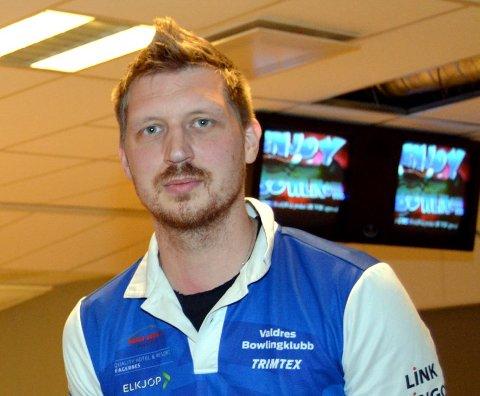 Klubbmester: Kim Andé Nyland tok tittelen og ble klubbmester i Valdres Bowlingklubb for 2017.