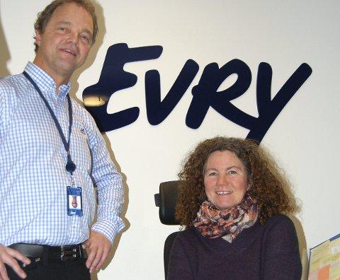 Læreplass: Frode Kroken og Hilde Karina Gjuv Ellefsrød hos EVRY Norge.