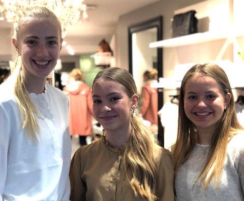 ARBEIDSLIVET: Leona Andersen Vedvik, Mathea Engebretsen Næss og Johanne Hem Gjerde er veldig fornøyd med arbeidsuka hos Seven.