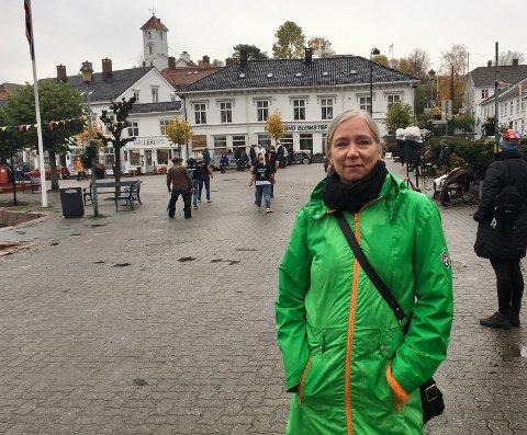 Mona Rhein i Risør By AS er fornøyd med at markedsdagen er gjennomført etter programmet.