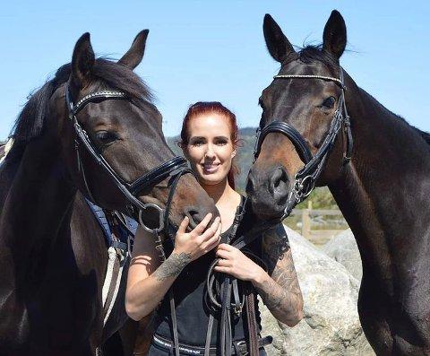 Hest: Kine Storbæk sin interesse for hest har bare blitt større med årene.