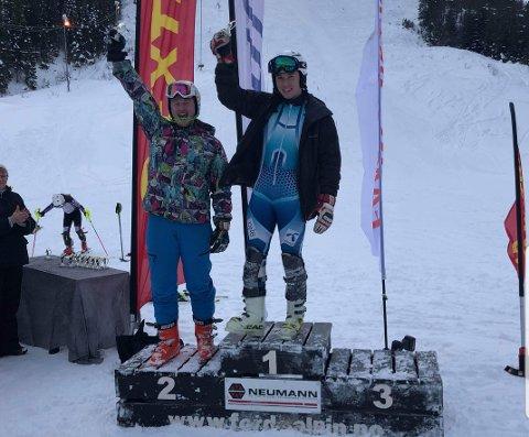 VINNARAR: Dette er dei to beste junior II klassen. Samson Aas Wie og Jørgen Hage Lambrechts.