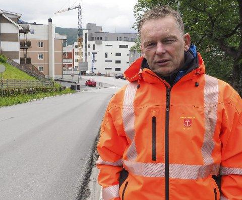 IKKE KLART: Forkjørstrafikken på Frydenlund er ikke klar, det forteller Trond Solberg, enhetsleder for veg og park i Narvik kommune. Arkivfoto
