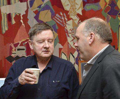 Vil ha ny vurdering: Amund Velure (Ap), til venstre, og Jørund Kvestad (Sp) er to av fire representantar som no krev lovlegkontroll av kommunestyrevedtaket 9. september. Arkivfoto: Ernst Olsen