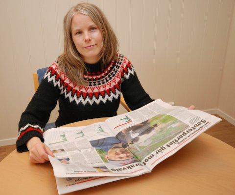 HYGGELIGE TALL: Kirsti Bergstø (SV) likte godt forrige ukes meningsmåling. Den gir henne håp om et fortsatt liv på Stortinget.