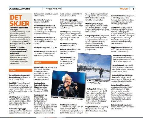 Dette er oversikten over hva som skjer i Kongsberg-distriktet helga 6-8. mars.