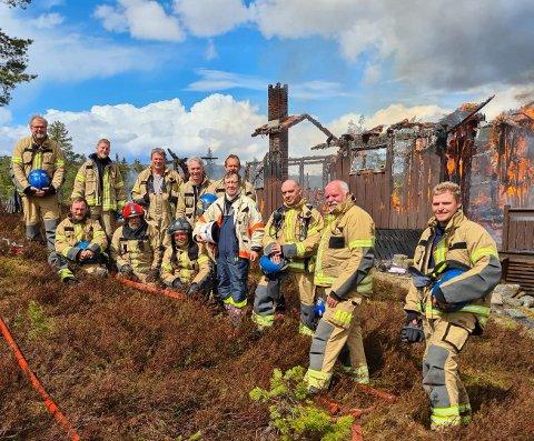 BRANNMANNSKAP: Flesberg brannvesen hadde øvelse på Blefjell torsdag.