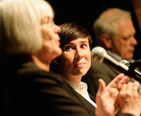 I DEBATT: Her er daværende leder for kirke-, utdannings- og forskningskomiteen Ine Marie Eriksen Søreide i debatt om skole på Driv foran valget i 2009, sammen med daværende kunnskapsminister Tora Aasland (SV).