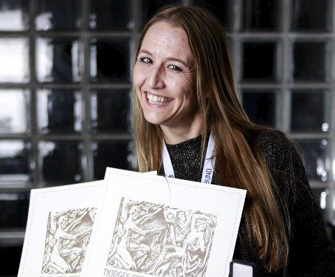 Heder: Fotograf Line Loholt mottok både bronsemedalje for ett bilde og hederlig omtale for et annet under helgens fotokonkurranse i Drammen.
