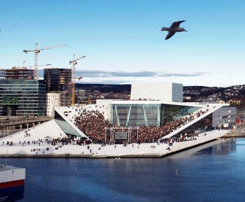 KJEMPEKOR: Lørdag 14. april samles rundt 3.000 sangere på operataket, og blant disse finner man Farris seniorkor fra Larvik.
