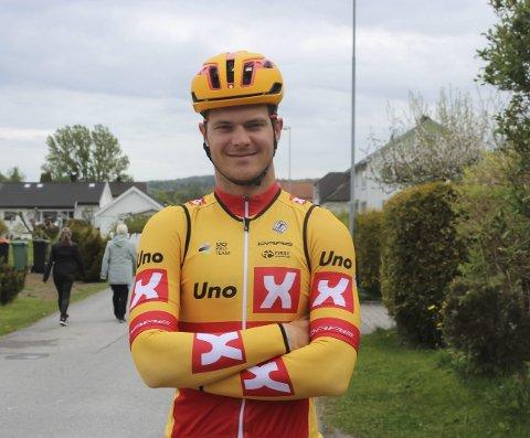 SYKKELPROFF: Syver Wærsted er en del av det norske profflaget Uno-X Norwegian development team.