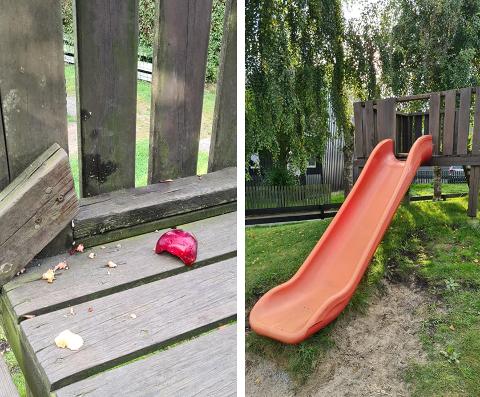 På denne rutsjebanen hadde en småbarnsfamilie en skummel opplevelse i helgen.