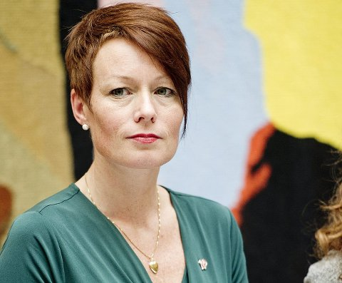 Snevert: Line Henriette Hjemdal  (KrF) synes det er snodig og snevert å bringe ledigheten inn i debatten rundt søndagsåpne butikker. ARKIVFOTO: NTB Scanpix /ANB