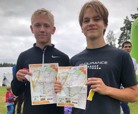 DEBUTANTER: Espen Solbrekke Tveten (t.v.) og Marius Fjeld Hansen synes orientering var så morsomt at de har lyst til å prøve igjen.
