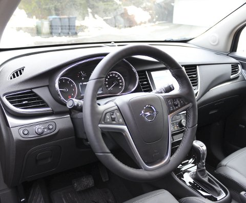 Raffinert: Opel Mokka X har et tydelig førermiljø med god kvalitetsfølelse.