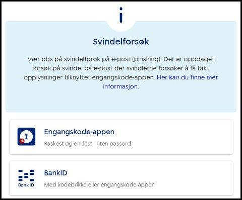 SVINDEL: Sparebank1 åtvarar kundene sine. Svindlarar forsøker å få tak i opplysninger tilknytta engangskodeappen din.