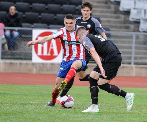 I FORM: Youssef Chaib har scoret tre mål på de fire siste kampene for Kvik Halden, og er lagets toppscorer med ni mål totalt.