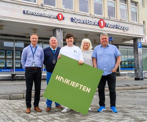 Fra venstre: Bjørn Bardal, Hans Øyvind Bakkejord, Stein Hjertholm, Inger-Hilde Olsen og Terje Andersen.