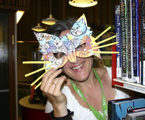 KLAR: Kjersti Beiermann har laget masker før også hun.  Arkivfoto: Gro Elin Lohne Sande