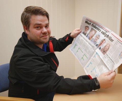 STEM PÅ BERGSTØ: Fylkesstyret i Fagforbundet Finnmark, her representert ved Kristoffer Tandberg, oppfordrer alle til å bruke stemmeretten. Og helst slik at Kirsti Bergstø (SV) kommer inn på Stortinget.