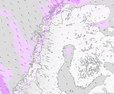 MYE VIND: Meteorologisk institutt melder at Finnmark og Troms er regionen som får mest vind de neste dagene.