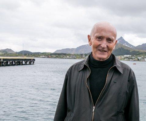Daglig leder i Havbruksakademeiet Nord Søren Fredrik Voie i maritime omgivelser.