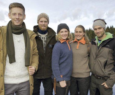 FIRE DELTAKERE IGJEN: Programleder Gaute Grøtta Grav med Eilev Bjerkerud, Marte Søreide, Charlotte Jacobsen og Øystein Hetland.