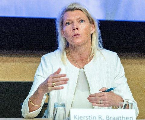 VIL STRAMME INN: Bankene med DNB og konsernsjef Kjerstin Braathen i spissen, vil stramme inn overfor nye lånekunder fremover. Foto: Gorm Kallestad (NTB scanpix)