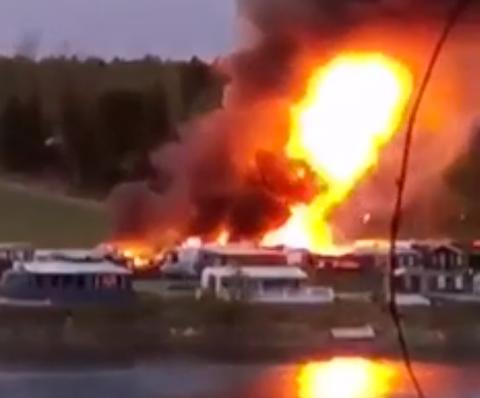 DRAMATISK: Lørdag 9. mai brant det kraftig i tre campingvogner på camping plassen. Et vitne dokumenterte hendelsen på video. Se den litt lenger ned i saken!