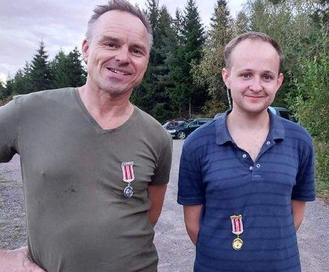 MEDALJEVINNERE: Bjørn Enerud og Stian Engnæs Hansen.
