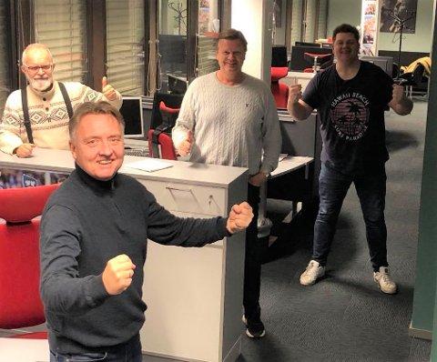SA-PODDEN: Øistein Veberg, Petter Kalnes, Bjørn Inge «Bingen» Nilsen og Patrick Walther Larsen.