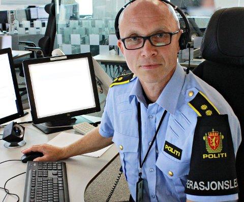 Operasjonsleder John Bratland i Møre og Romsdal politidistrikt.