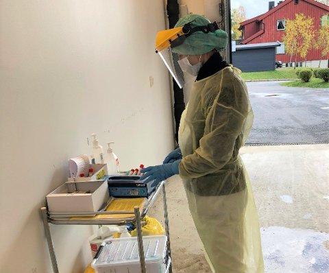 Test: Koronatest ved Valdres lokalmedisinske senter på Fagernes.